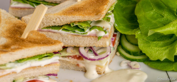 Food Fotografie – Club Sandwich
