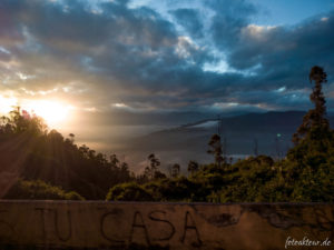 Sonnenaufgang über Quito