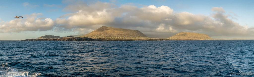 Blick auf Puerto Egas - Santiago
