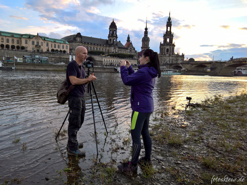 Linda als Kamerafrau für Stephan Wiesner