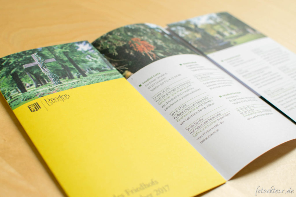 "Flyer zum ""Tag des Friedhofs"""